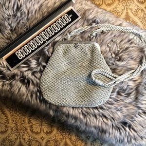 RODO Vintage Silver Mesh Evening Bag,from Italy